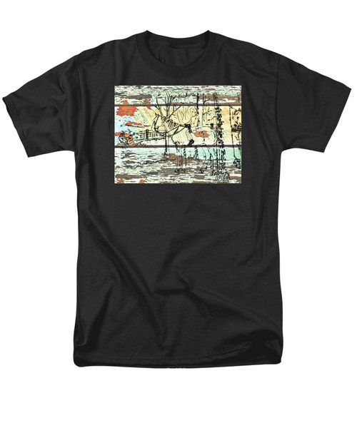 Men's T-Shirt  (Regular Fit) featuring the drawing His First Horse  by Larry Campbell