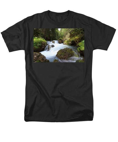 Men's T-Shirt  (Regular Fit) featuring the photograph Small Stream by Antonio Scarpi