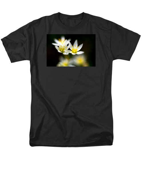 Men's T-Shirt  (Regular Fit) featuring the photograph Small White Flowers by Darryl Dalton