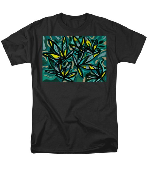 Men's T-Shirt  (Regular Fit) featuring the painting Smoke On The Water by Barbara St Jean
