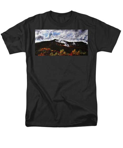 Smoky Mountain Angel Hair Men's T-Shirt  (Regular Fit) by Craig T Burgwardt