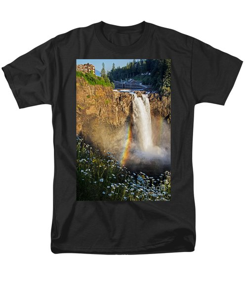 Snoqualmie Falls  Men's T-Shirt  (Regular Fit) by Sonya Lang