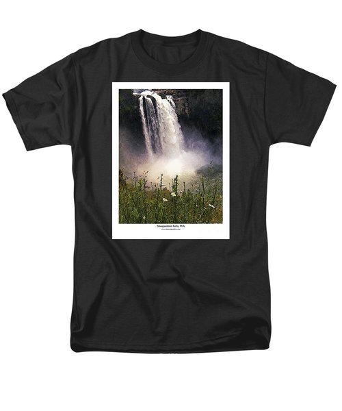 Snoqualmie Falls Wa. Men's T-Shirt  (Regular Fit) by Kenneth De Tore