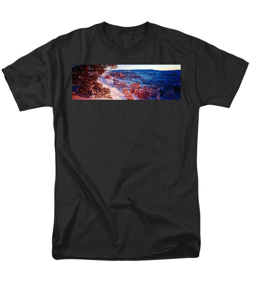 Snow In Bryce Canyon National Park Men's T-Shirt  (Regular Fit) by Panoramic Images