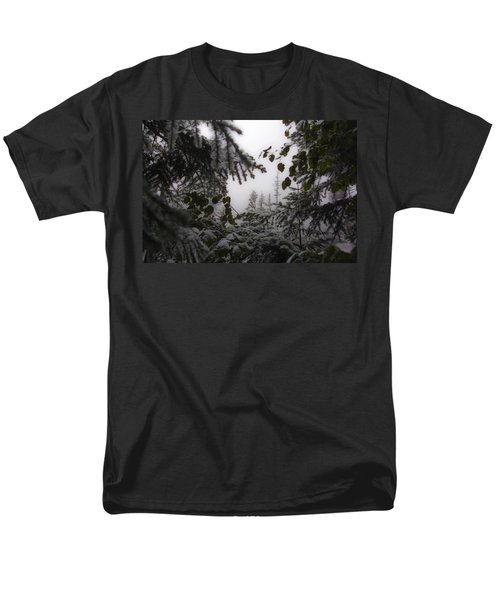 Men's T-Shirt  (Regular Fit) featuring the photograph Snow In Trees At Narada Falls by Greg Reed