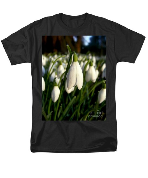 Men's T-Shirt  (Regular Fit) featuring the photograph Snowdrops by Nina Ficur Feenan