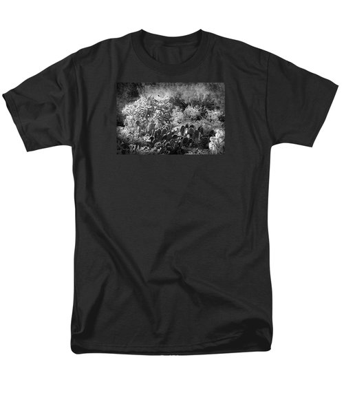 Men's T-Shirt  (Regular Fit) featuring the photograph Snowfall In The Desert by Phyllis Denton