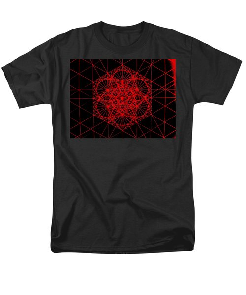 Men's T-Shirt  (Regular Fit) featuring the drawing Snowflake Shape Comes From Frequency And Mass by Jason Padgett