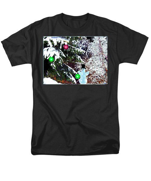 Men's T-Shirt  (Regular Fit) featuring the digital art Snowman by Daniel Janda