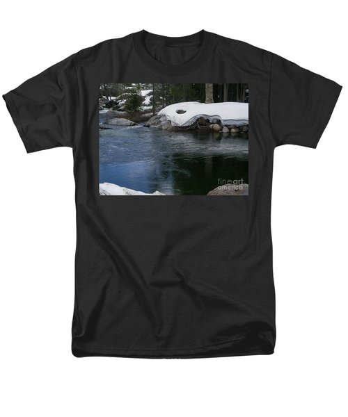 Men's T-Shirt  (Regular Fit) featuring the photograph Snowy River Bend by Bobbee Rickard