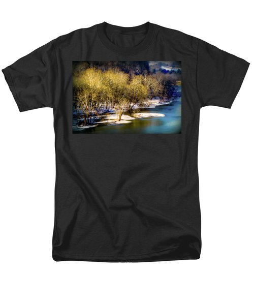 Snowy River Men's T-Shirt  (Regular Fit) by Karen Wiles