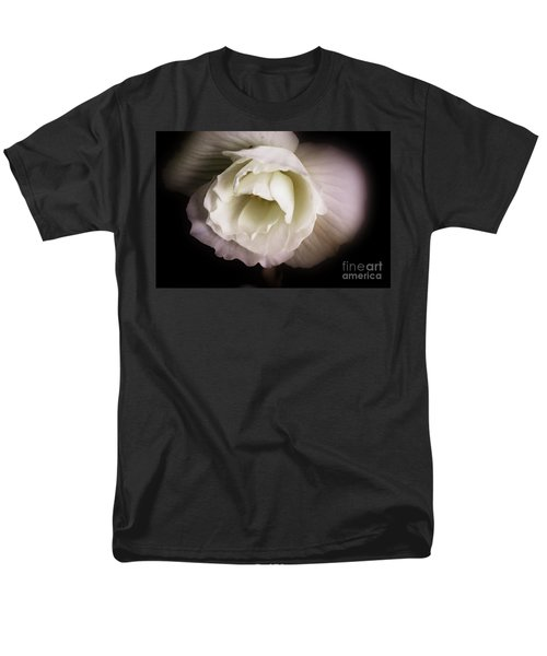 Men's T-Shirt  (Regular Fit) featuring the photograph Soft Flower In Black And White by John S