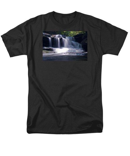 Soft Light Dunloup Falls Men's T-Shirt  (Regular Fit) by Shelly Gunderson