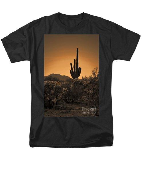 Solitary Saguaro Men's T-Shirt  (Regular Fit) by Deb Halloran