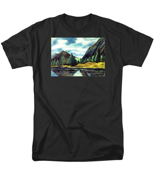 Men's T-Shirt  (Regular Fit) featuring the painting Solitude by Patricia Griffin Brett