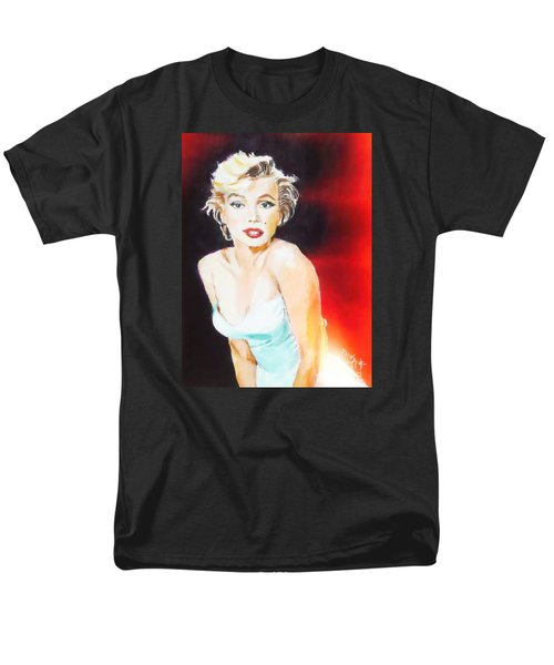 Men's T-Shirt  (Regular Fit) featuring the painting Some Like It Red Hot by Judy Kay