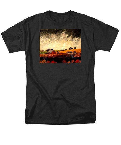 Men's T-Shirt  (Regular Fit) featuring the painting Somewhere Else by William Renzulli