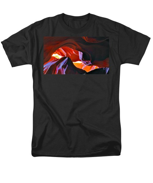 Men's T-Shirt  (Regular Fit) featuring the photograph Somewhere In Waves In Antelope Canyon by Lilia D