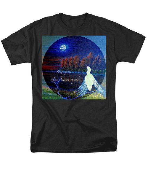Song Of The Silent  Autumn Night In The Round With Text  Men's T-Shirt  (Regular Fit) by Kimberlee Baxter