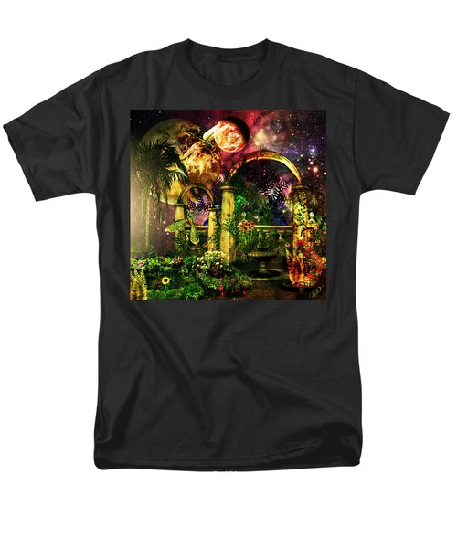 Space Garden Men's T-Shirt  (Regular Fit) by Ally  White