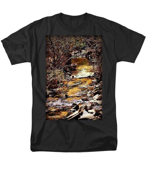 Men's T-Shirt  (Regular Fit) featuring the photograph Sparkling Creek by Tara Potts