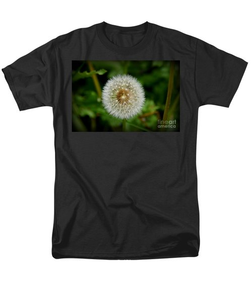 Men's T-Shirt  (Regular Fit) featuring the photograph Sparkling Dandelion by Debra Martz