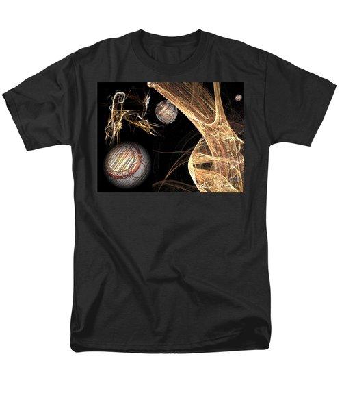 Men's T-Shirt  (Regular Fit) featuring the digital art Sparkling Gold by Jacqueline Lloyd