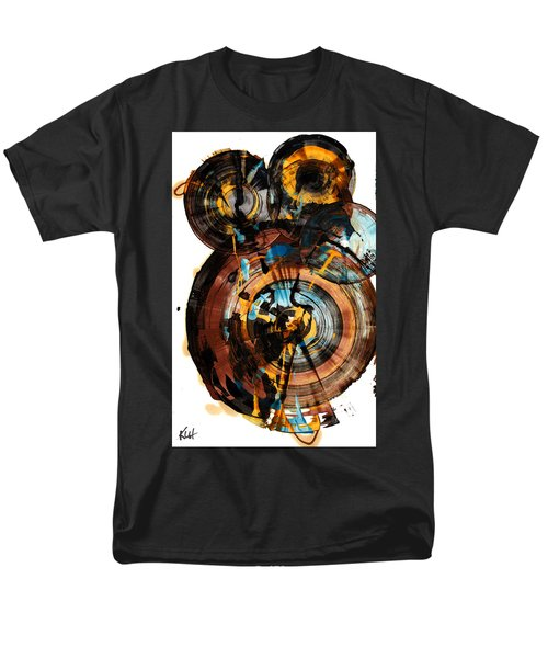 Men's T-Shirt  (Regular Fit) featuring the painting Spherical Happiness Series - 994.042212 by Kris Haas