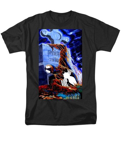 Spider Resurrection Pop Art Men's T-Shirt  (Regular Fit) by Justin Moore