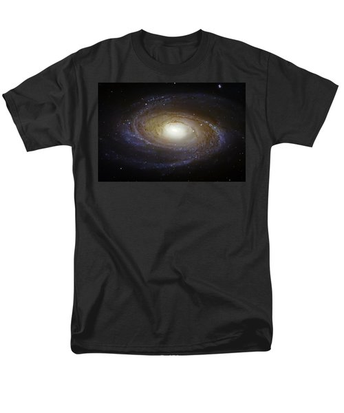 Spiral Galaxy M81 Men's T-Shirt  (Regular Fit) by Jennifer Rondinelli Reilly - Fine Art Photography