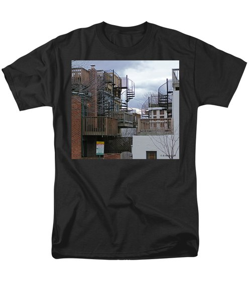 Men's T-Shirt  (Regular Fit) featuring the photograph Spiral Stairs by Brian Wallace