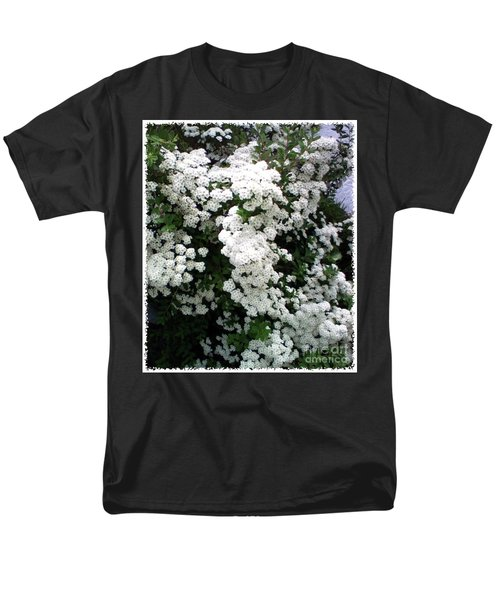Spirea Bridal Veil Men's T-Shirt  (Regular Fit) by Barbara Griffin