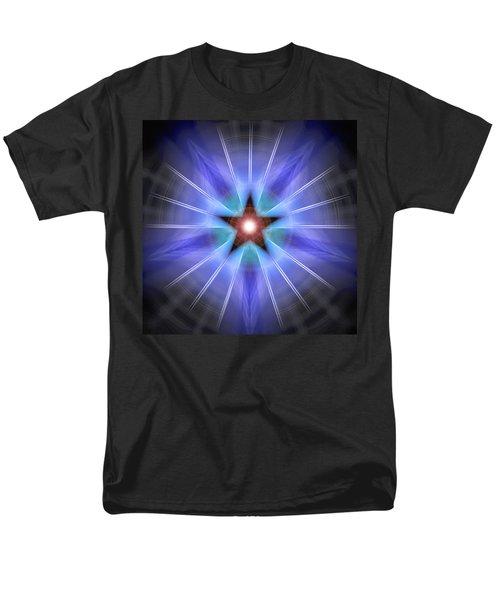 Men's T-Shirt  (Regular Fit) featuring the drawing Spiritual Pulsar by Derek Gedney
