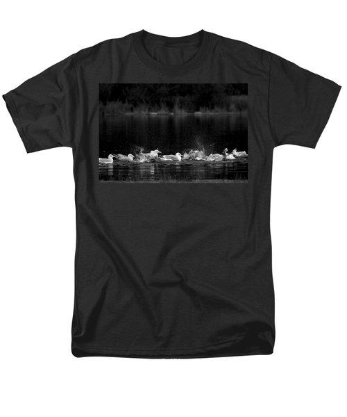 Men's T-Shirt  (Regular Fit) featuring the photograph Splashing Seagulls by Yulia Kazansky