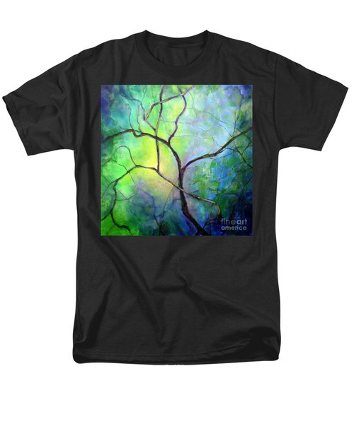 Men's T-Shirt  (Regular Fit) featuring the painting Spring Catawba Tree by Jodie Marie Anne Richardson Traugott          aka jm-ART