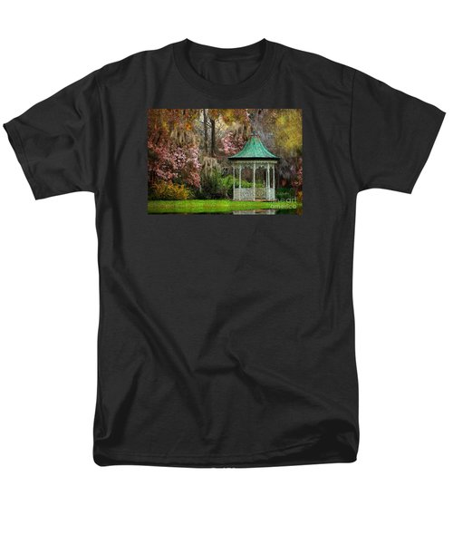 Men's T-Shirt  (Regular Fit) featuring the photograph Spring Magnolia Garden At Magnolia Plantation by Kathy Baccari