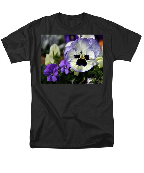 Spring Pansy Flower Men's T-Shirt  (Regular Fit) by Ed  Riche