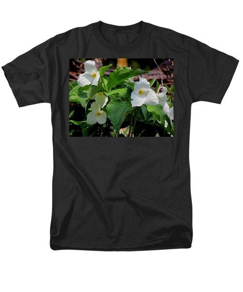 Springtime Trillium Men's T-Shirt  (Regular Fit) by David T Wilkinson