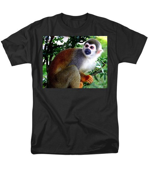 Squirrel Monkey Men's T-Shirt  (Regular Fit) by Laurel Talabere