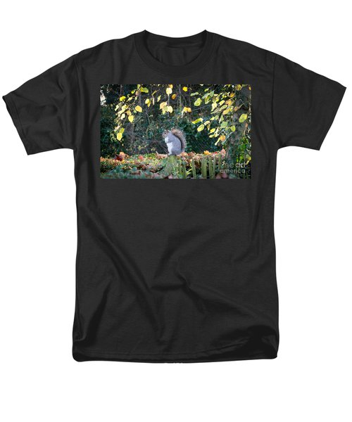 Men's T-Shirt  (Regular Fit) featuring the photograph Squirrel Perched by Matt Malloy