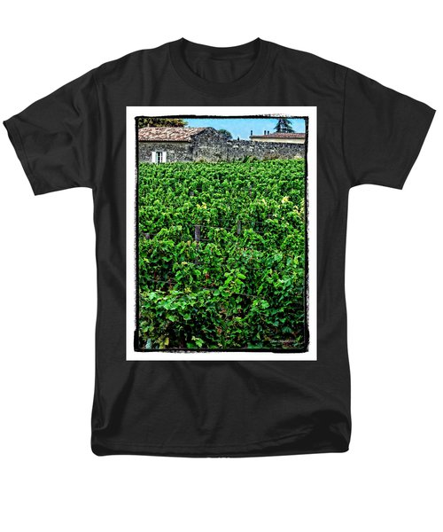 Men's T-Shirt  (Regular Fit) featuring the photograph St. Emilion Winery by Joan  Minchak