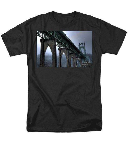St Johns Bridge Oregon Men's T-Shirt  (Regular Fit) by Bob Christopher