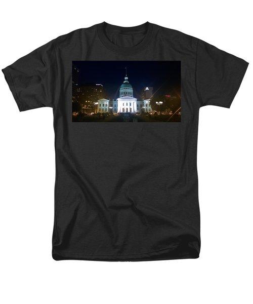 St. Louis At Night Men's T-Shirt  (Regular Fit) by Chris Tarpening