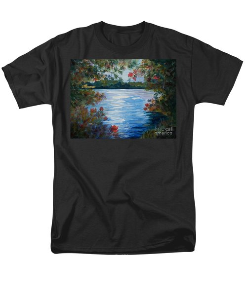 St. Regis Lake Men's T-Shirt  (Regular Fit) by Ellen Levinson
