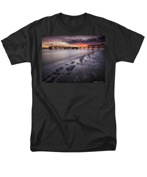 St. Simons Pier At Sunset Men's T-Shirt  (Regular Fit) by Fran Gallogly
