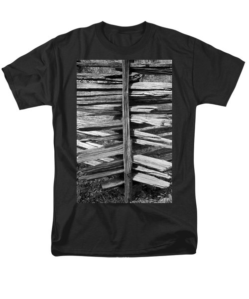 Stacked Fence Men's T-Shirt  (Regular Fit) by Lynn Palmer