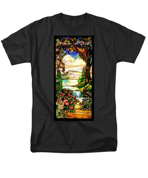 Stained Glass Men's T-Shirt  (Regular Fit) by Kristin Elmquist