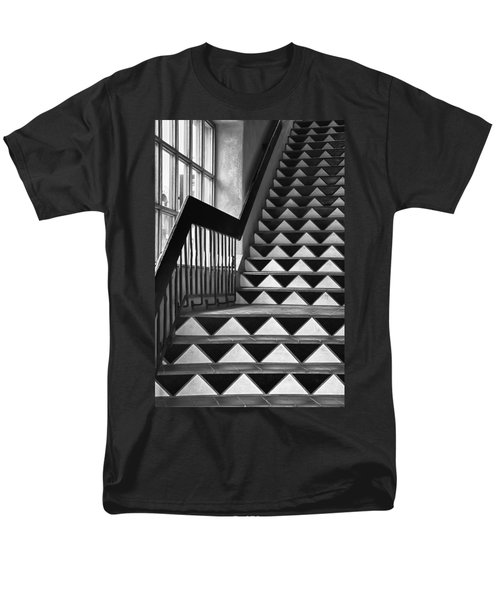 Men's T-Shirt  (Regular Fit) featuring the photograph Staircase Santa Fe New Mexico by Ron White