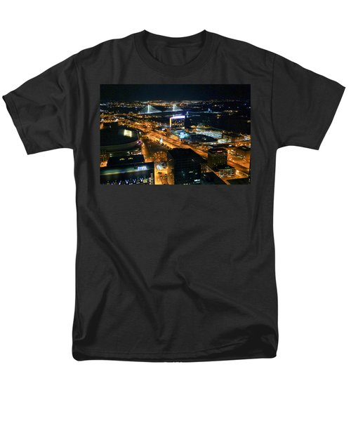 Stan Musial Bridge In St Louis Mo Dsc03215 Men's T-Shirt  (Regular Fit) by Greg Kluempers