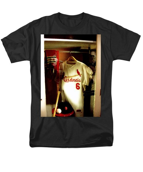 Men's T-Shirt  (Regular Fit) featuring the photograph Stan The Man's Locker Stan Musial by Iconic Images Art Gallery David Pucciarelli